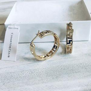 Charter Club hoop earrings in gold tone